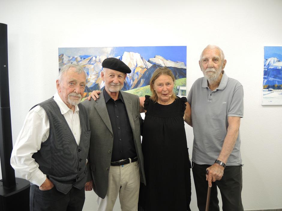 Künstler der ersten Stunde waren Andreas Weissenbach, Erwin Reheis, Dora Czell und Elmar Kopp (v.l.).
