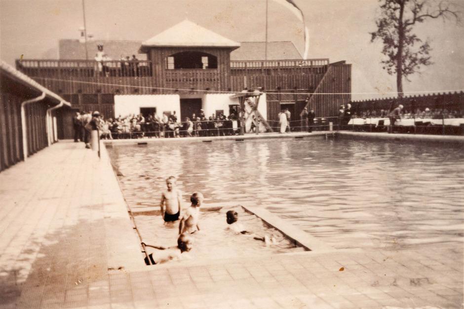 Eine andere (Wasser-)Welt: So sah das erste Telfer Schwimmbad am Eröffnungstag, dem 14. Juli 1929, aus.