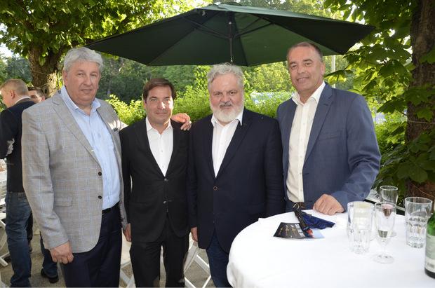 Die Chefredakteure Mario Zenhäusern (TT), Rainer Nowak (Die Presse), Johannes Bruckenberger (APA) und Alois Vahrner (TT; v.l.).