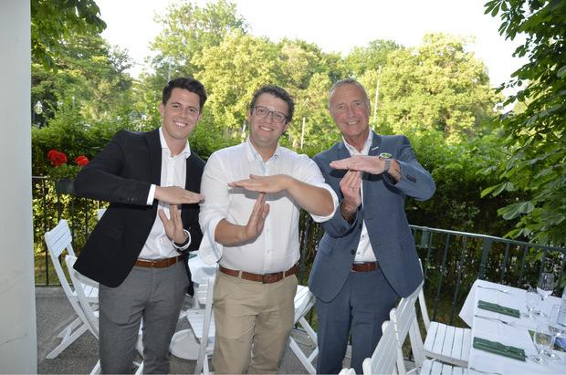 Simon Franzoi (WKT), Gremialobmann des Tiroler Lebensmittelhandels, Stefan Mair und TT-Verkaufsleiter Tirol Markus Lugger (v.l.).