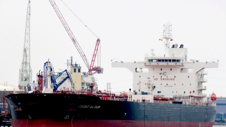 """Auch der Tanker """"Front Altair"""" wurde getroffen."""