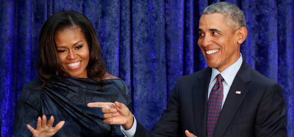 Ex-US-Präsident Barack Obama mit seiner Frau Michelle.