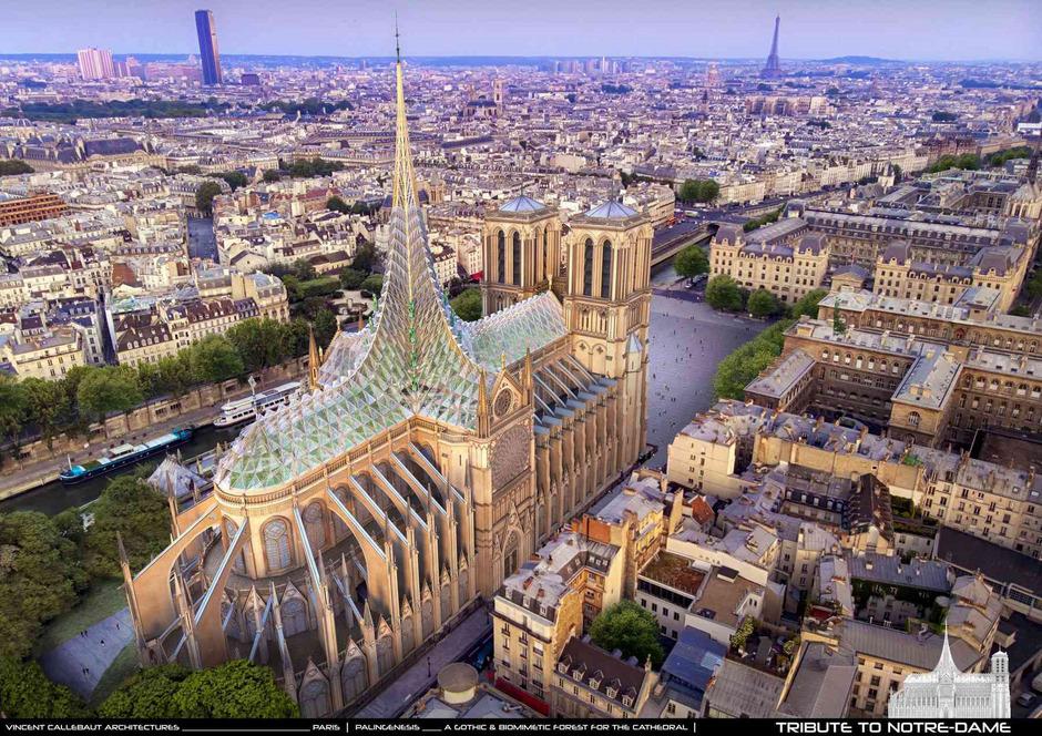 Glaspalast: Vincent Callebaut will als Dachstuhl einen durchsichtigen Palast.