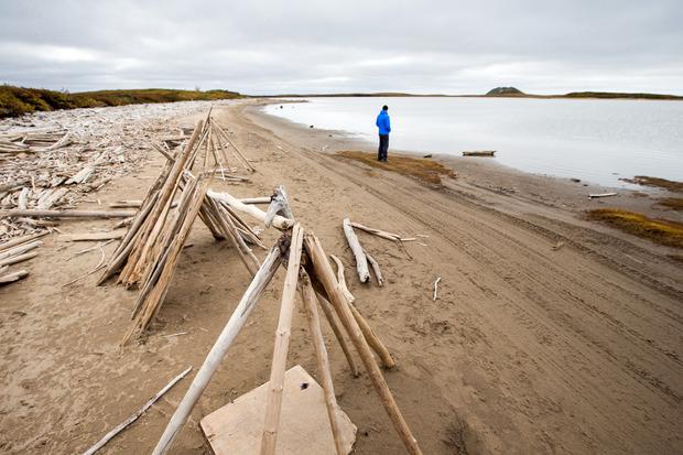 Am Ziel: Der Ort Tuktoyaktuk liegt direkt an der Beaufortsee.