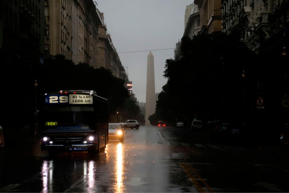 Auch die argentinische Millionenmetropole Buenos Aires wurde vom Stromausfall lahmgelegt.