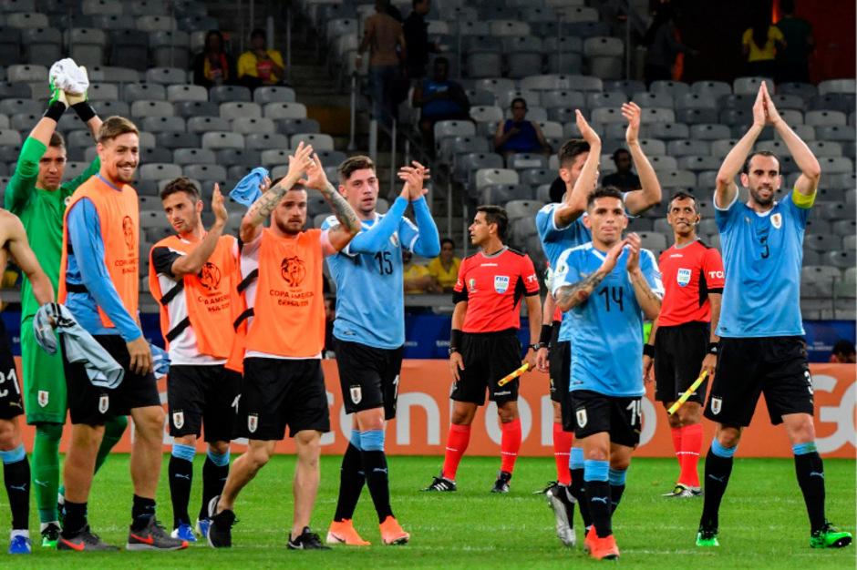 Uruguay hatte nach dem 4:0-Auftaktsieg Grund zum Feiern.