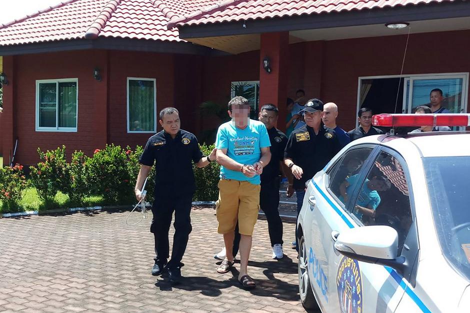Die thailändische Polizei nahm den mutmaßlichen Hochstapler am Wochenende fest.