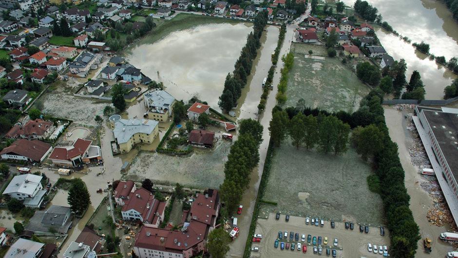 Beim verheerenden Hochwasser im Jahr 2005 wurden weite Teile Wörgls überschwemmt.