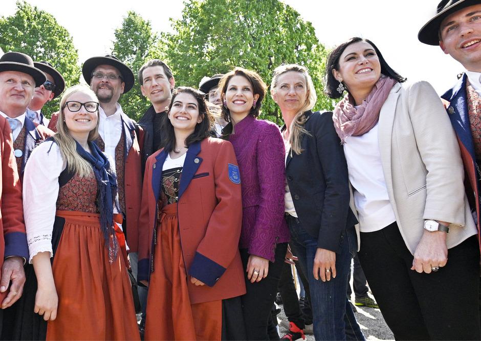 Geladen hatten zum Familienfest die damaligen Ministerinnen Köstinger und Bogner-Strauß. Gekommen waren auch Kurz und Edtstadler.