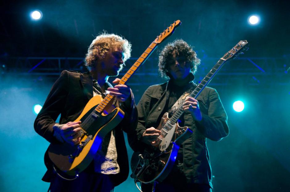 """Perfektes Songwriterduo: Brendan Benson (links) und Jack White (rechts) sind für die Songs der """"Raconteurs"""" verantwortlich."""