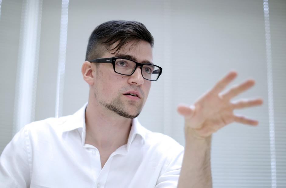 """Martin Sellner, Sprecher der rechtsextremen """"Identitären Bewegung Österreich"""" (IBÖ)."""