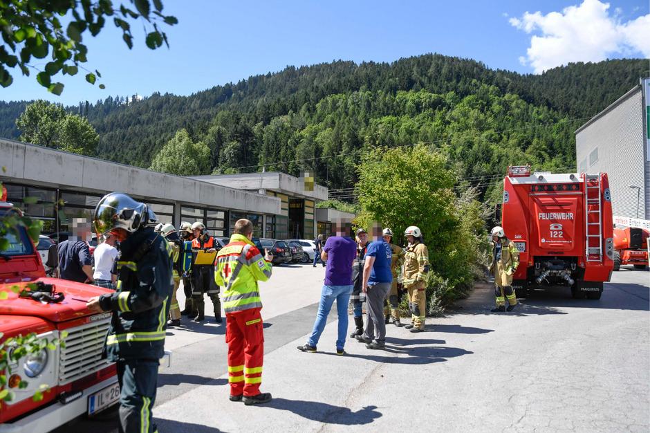 Das Firmengebäude wurde vollständig evakuiert.