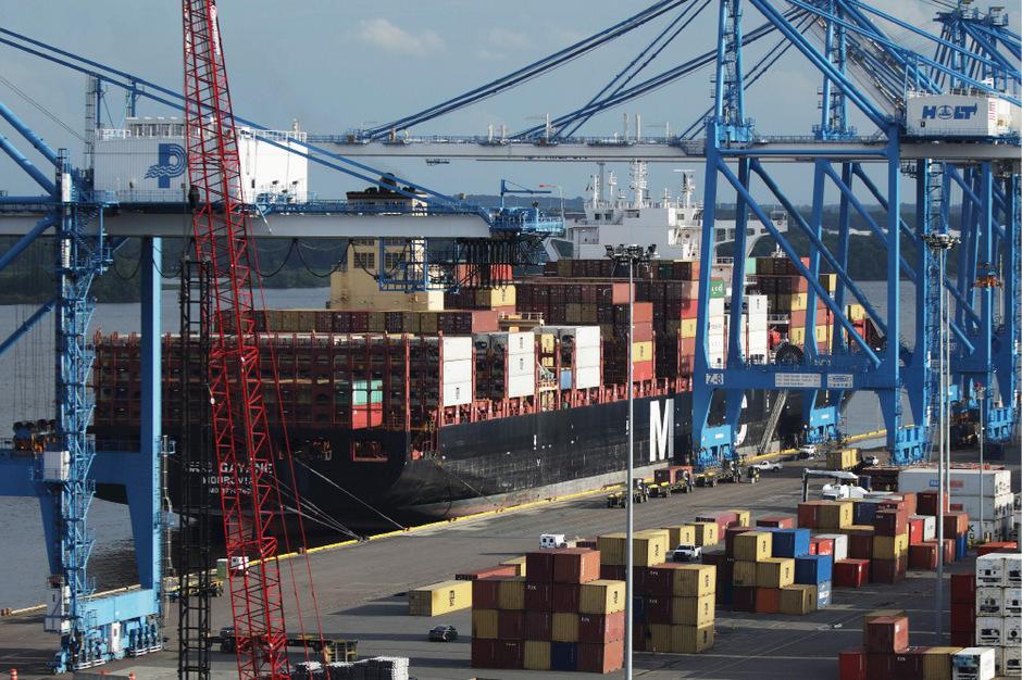 Das Schiff ankerte im Hafen von Philadelphia. Es hatte Drogen im Wert einer Milliarde Dollar geladen.