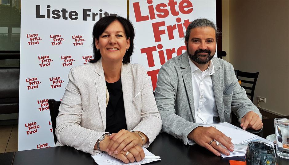 Klubobfrau Andrea Haselwanter-Schneider und LAbg. Markus Sint.