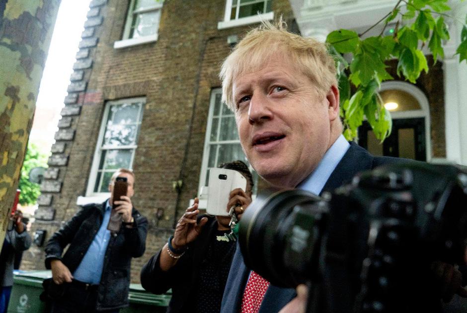 Der ehemalige Londoner Bürgermeister und Außenminister Boris Johnson erhielt am Mittwoch 143 der 313 Stimmen aus der Tory-Fraktion.