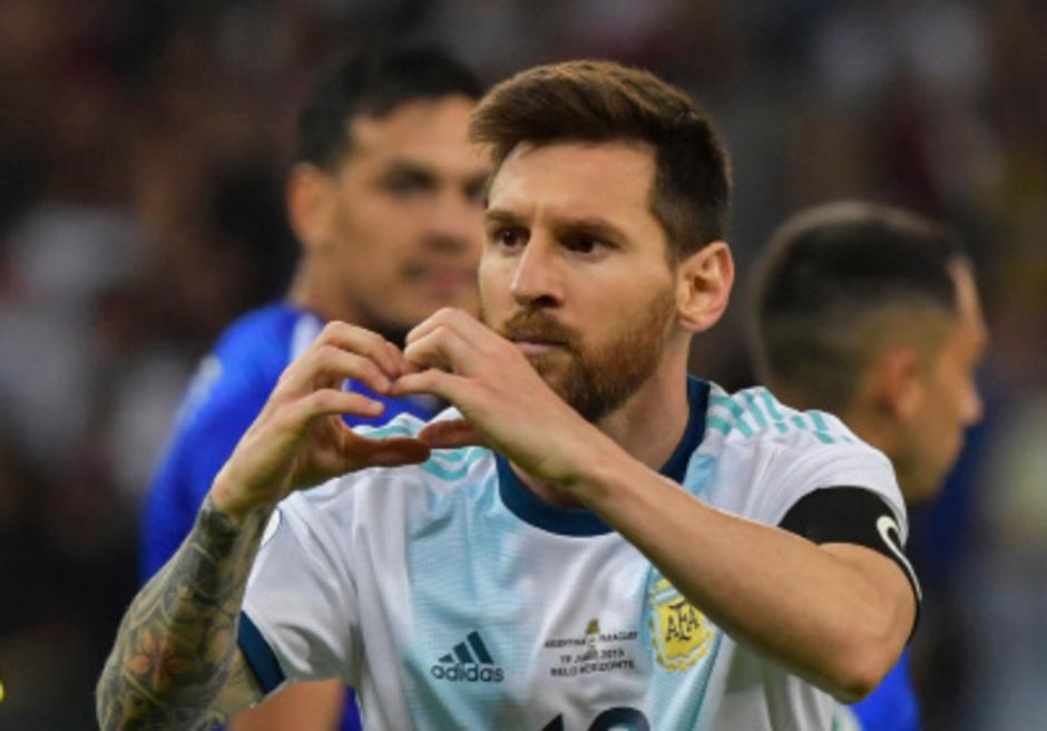 """Das """"Herz"""" Argentiniens: Leo Messi."""