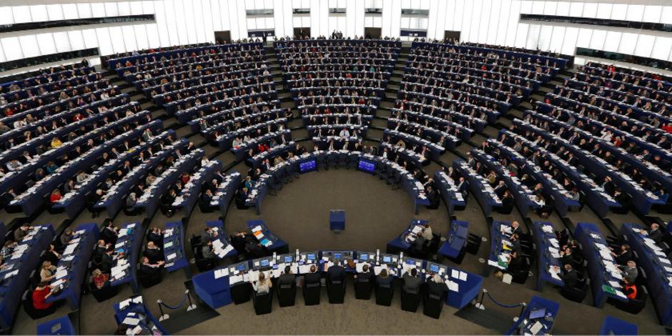 Der Sitzungssaal des EU-Parlaments in Straßburg.