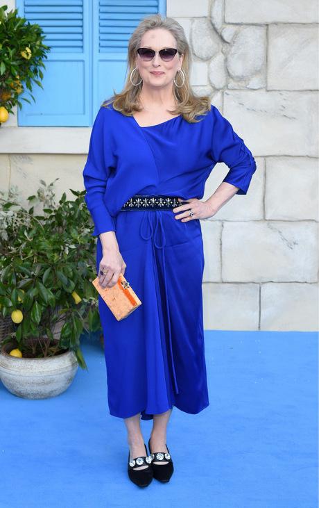 """Meryl Streep zur Filmpremiere von """"Mamma Mia! Here We Go Again"""" 2016."""