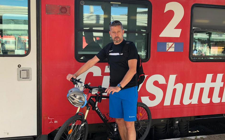 Hubert Schneeberger hatte für sein Rad vom Brenner nach Innsbruck kein Ticket gelöst.