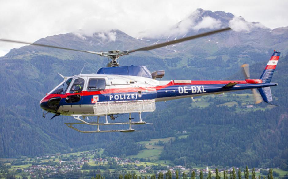 Der Hubschrauber des Innenministeriums