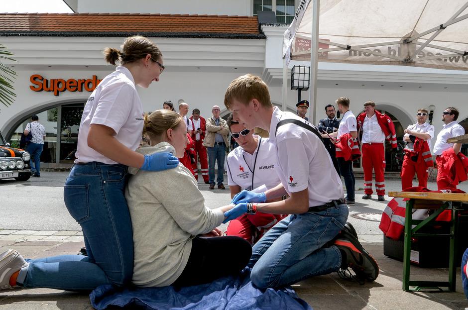 Die Kinder und Jugendlichen zeigten in Seefeld am Wochenende ihr großes Können als Ersthelfer.