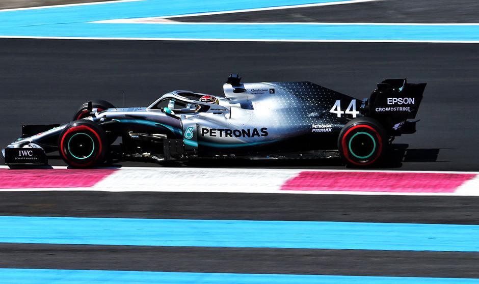 Auch in Frankreich eine Klasse für sich: Mercedes-Pilot Lewis Hamilton.