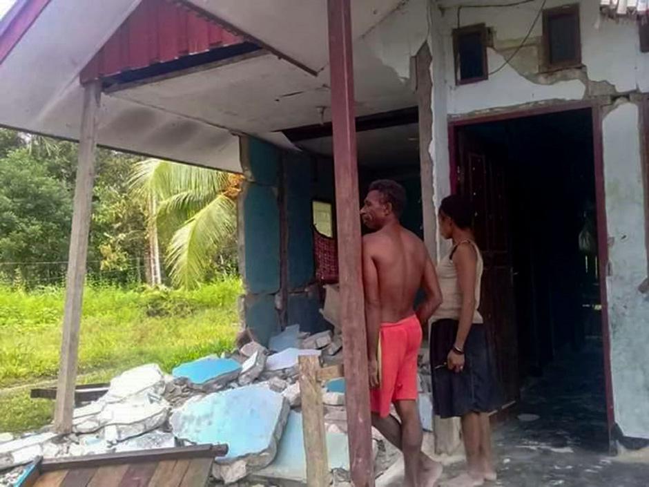 Eine ganze Serie von Erdbeben erschütterte die indonesische Provinz Papua auf Neuguinea.