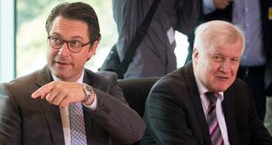 Deutschlands Verkehrsminister Andreas Scheuer (l.) und Innenminister Horst Seehofer (beide CSU).