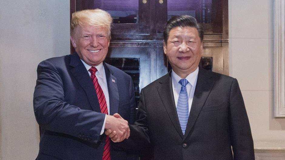 US-Präsident Donald Trump und sein chinesischer Amtskollege Xi Jinping  Anfang Dezember bei ihrem letzten Treffen.
