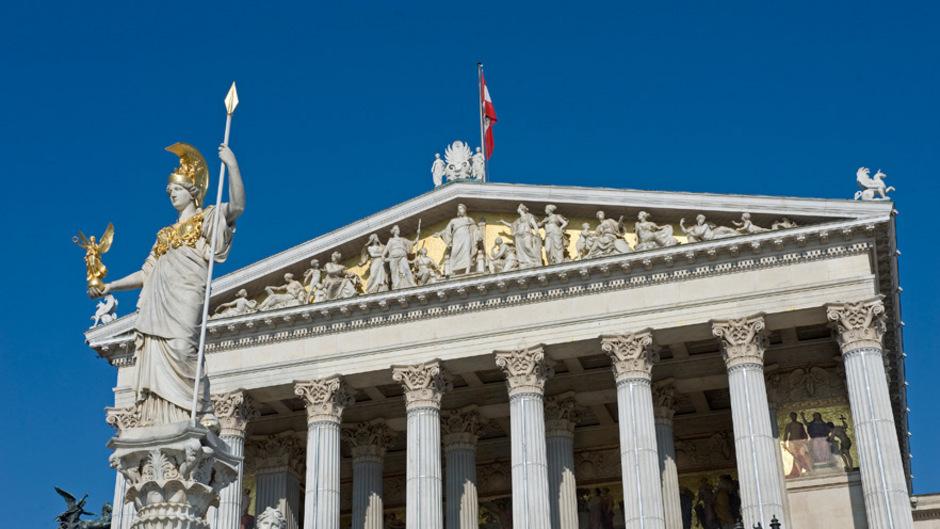 Das Parlamentsgebäude in Wien.
