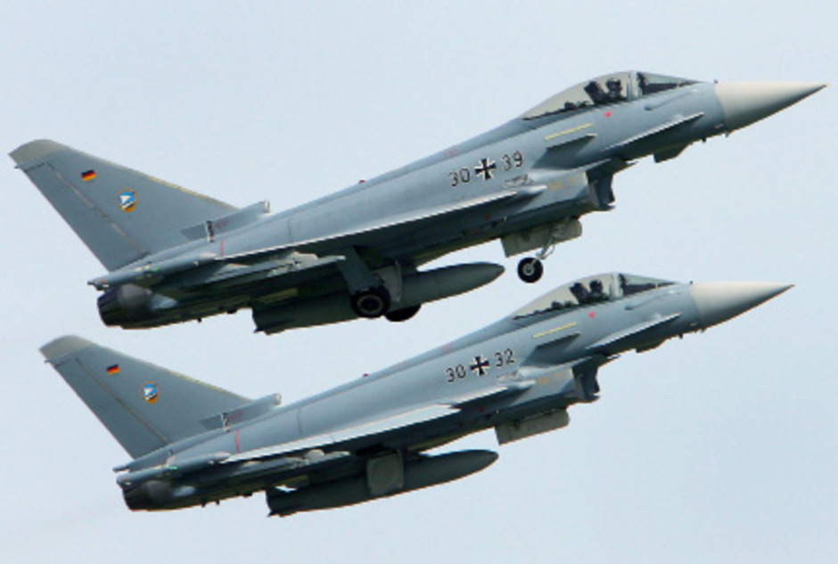 Zwei Eurofighter der Bundeswehr sind verunglückt.