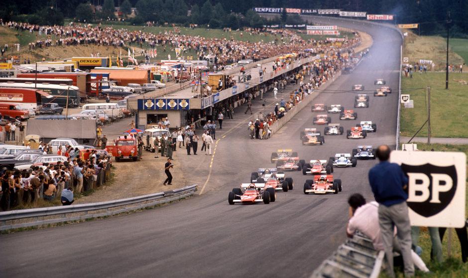 1970 machte die Formel 1 erstmals auf dem Österreichring in Spielberg Station - vor 100.000 Zuschauern.