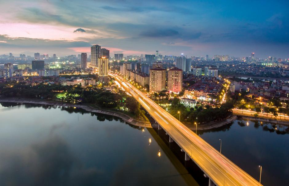 Die vietnamesische Hauptstadt Hanoi.
