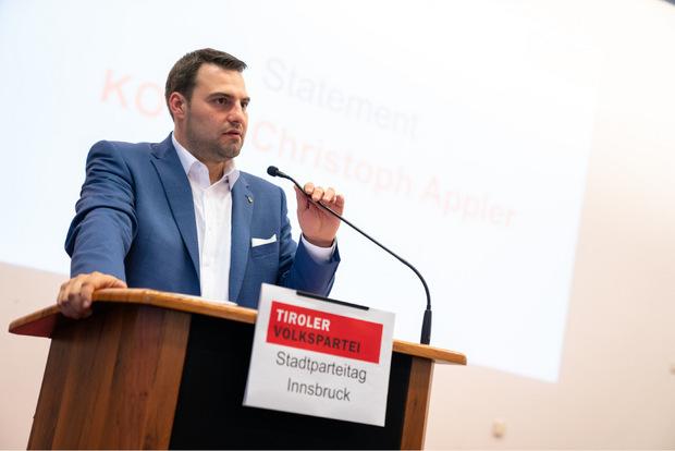 Christoph Appler - VP-Klub- und Stadtparteiobmann.