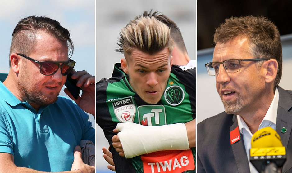 Im Transfergerangel um Flo Rieder schießen WSG-Manager Stefan Köck und Wacker-Sportchef Alfred Hörtnagl verbale Giftpfeile ab.