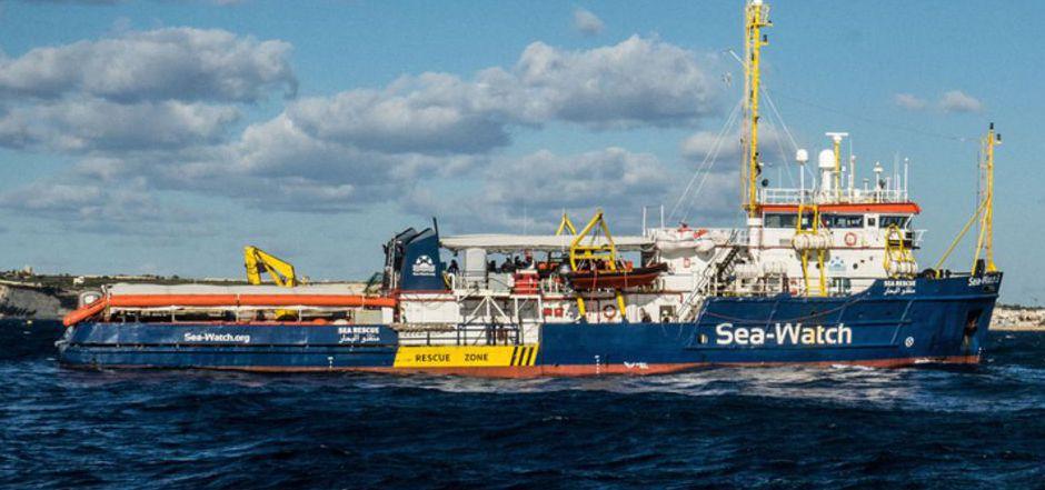 """Die """"Sea-Watch 3"""" der gleichnamigen deutschen NGO."""