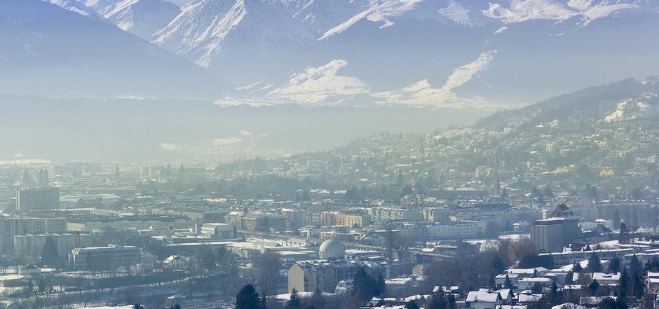Dunstglocke über Innsbruck. (Symbolfoto)