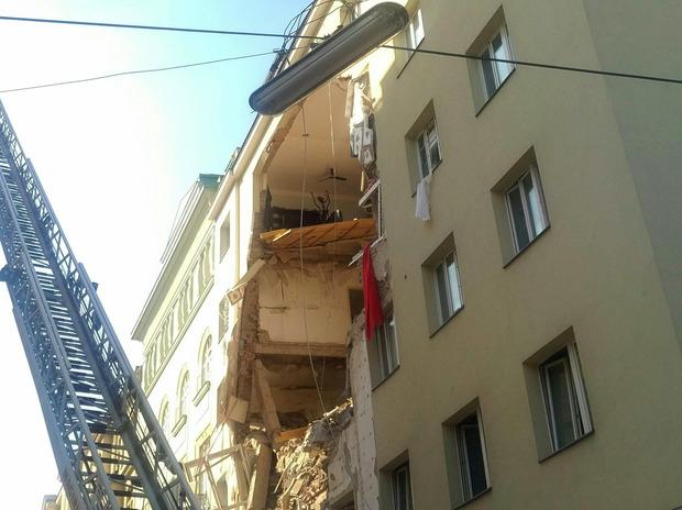 Das Wohnhaus, in dem es am Mittwochnachmittag zur Gasexplosion kam.