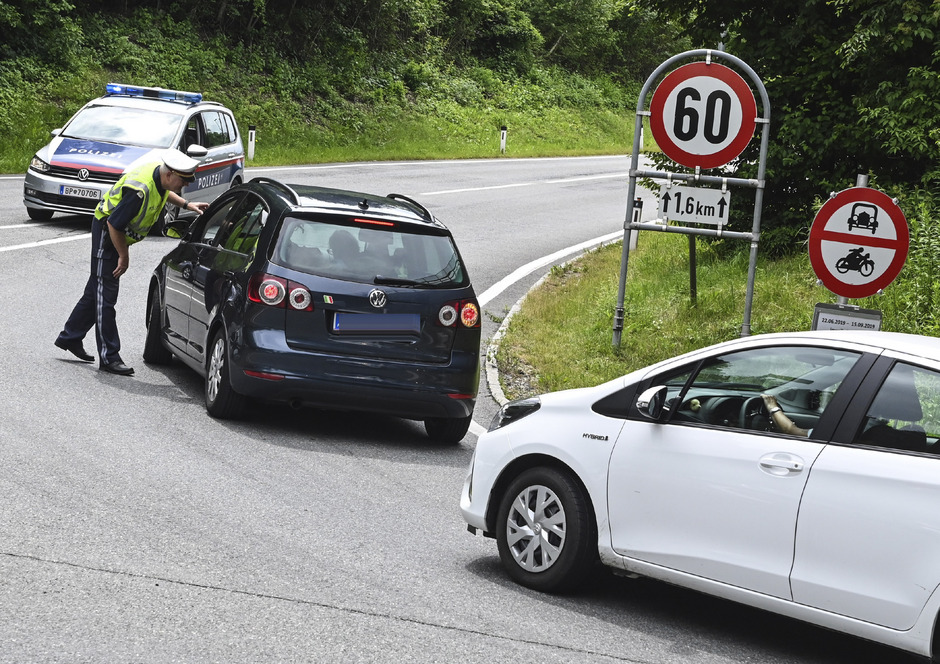 Kontrollsituation in Tirol am vergangenen Samstag.