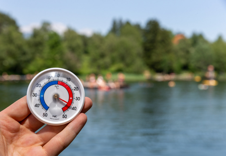 An den Seen ist es natürlich ebenso heiß, aber die Abkühlung dafür nicht weit.