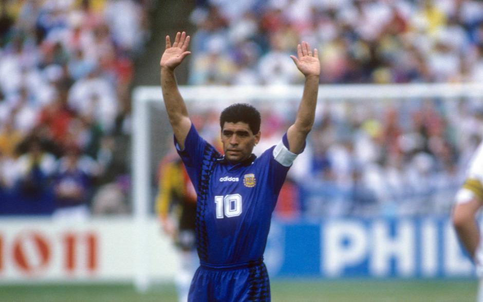 Bei der WM 1994 wurde Superstar Diego Maradona zum zweiten Mal des Dopings überführt.