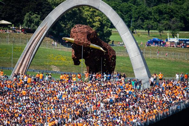 Die niederländischen Fans waren am Red-Bull-Ring einmal mehr in der Überzahl.