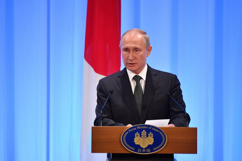 Der russische Präsident Wladimir Putin in Osaka.