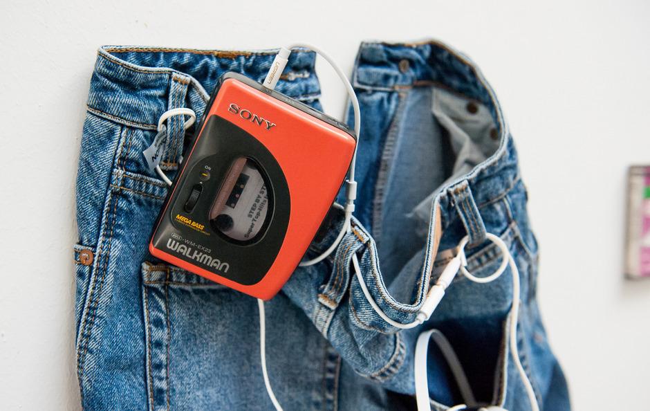 """Eigentlich soll das Gerät """"Sound-About"""" heißen, erst auf dem US-Markt erhielt es den Namen """"Walkman""""."""
