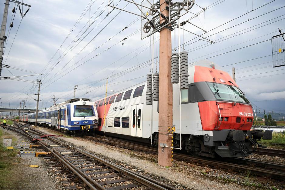 Glimpflich ist ein Zugsunglück am Montagnachmittag in Wien-Floridsdorf ausgegangen.