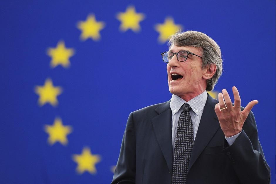 David-Maria Sassoli während seiner ersten Rede als EU-Parlamentspräsident.