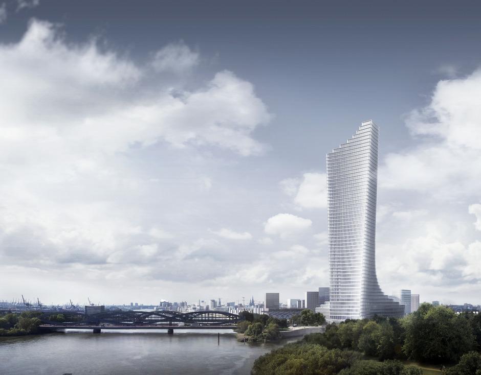 Der neue Elbtower in Hamburg von Rene Benkos Signa.