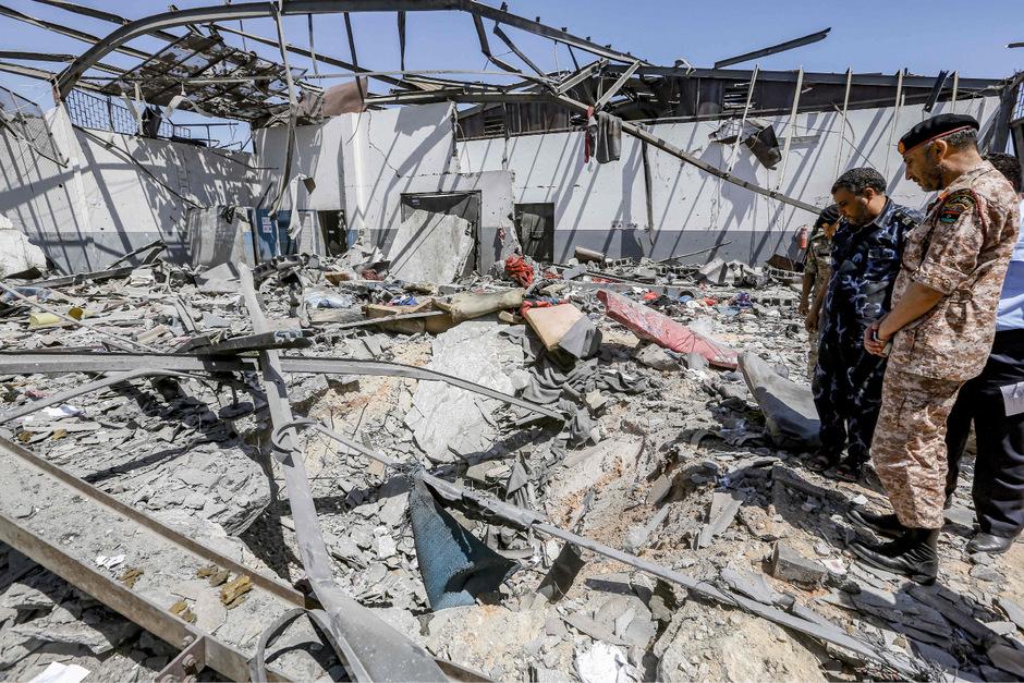 Das Flüchtlingslager wurde in der Nacht auf Mittwoch angegriffen. 44 Menschen wurden getötet, 130 weitere verletzt.