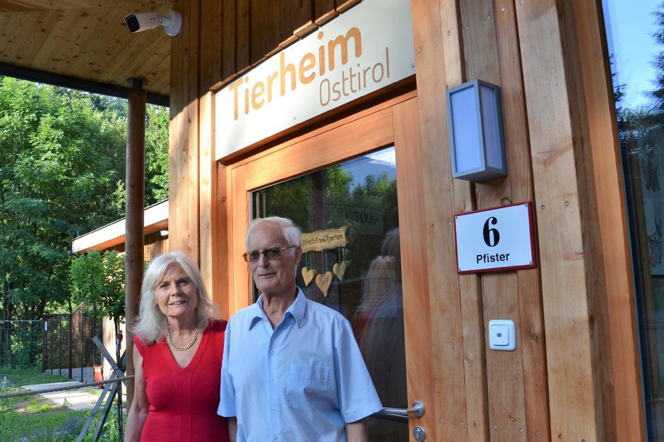 """Christine Zangerl, die """"gute Seele"""" des Osttiroler Tierschutzvereins, ist neue Obfrau, Josef Pedarnig wird Stellvertreter."""