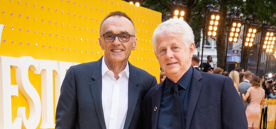 """Danny Boyle (l.) und Richard Curtis bei der Premiere des Films """"Yesterday"""" in London."""